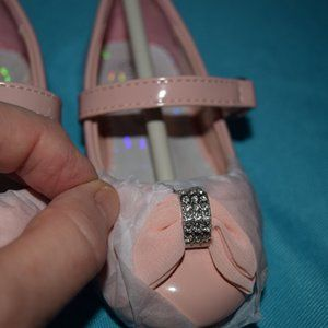 Little Angel Blush Patent Bow Mary Janes